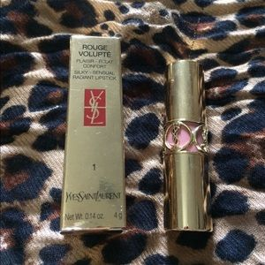 YSL Rouge Volupte lipstick in 1 Nude Beige